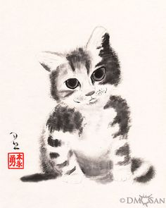 """Reproduction print of an original sumi-e painting on rice paper.  Available sizes: - 8x10"""" (paper size: 8.5"""" x 11"""") - 12x16"""" (paper size: 13"""" x 19"""")"""