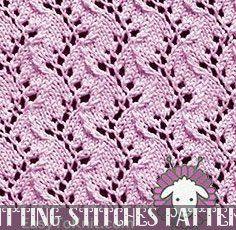Gorgeous Lace Knitting Stitch Eyelet Lace Traveling Vine - Easy To Knit Lace Knitting Stitches, Crochet Stitches Patterns, Knitting Charts, Knitting Patterns Free, Free Knitting, Stitch Patterns, Baby Knitting, Crochet Baby, Loom Patterns