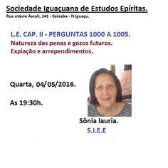 Sociedade Iguaçuana de Estudos Espíritas Convida para a sua Palestra Pública - N Iguaçu - RJ - http://www.agendaespiritabrasil.com.br/2016/05/04/sociedade-iguacuana-de-estudos-espiritas-convida-para-sua-palestra-publica-n-iguacu-rj-2/