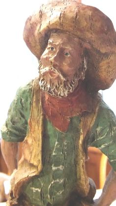 VINTAGE1982 FRED CURTIS COUNTRY WESTERN COWBOY MINER COLLECTIBLE FIGURINE STATUE
