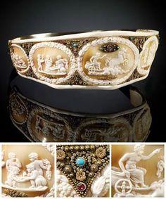 Emperess Josephines Cameo Tiara 1804-1815