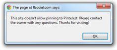 Websites können  #Pinterest deaktivieren by @martinweigert via @netzwertig #urheberrecht