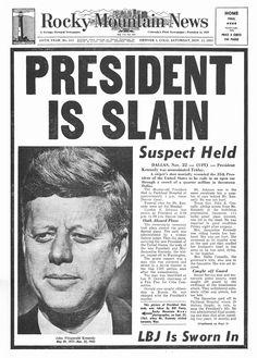 Rocky Mountain News, Saturday, 11/23/63
