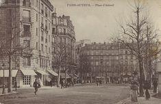 Place d'Auteuil Metro Michel-Ange Auteuil à gauche rue Girodet aujourd'hui une agence caisse d'Eparge
