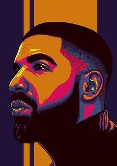 Arte Do Hip Hop, Hip Hop Art, Cute Canvas Paintings, Diy Canvas Art, Pop Art Drawing, Art Drawings, Drake Drawing, Pop Art Portraits, Portrait Art
