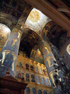 Joseph-Volotsky Monastery by vitasmal Church Architecture, Beautiful Architecture, Architecture Details, Klagenfurt, Palaces, Fresco, Hallstatt, Byzantine Icons, Cathedral Church