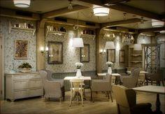 Интерьер кафе в стиле прованс.