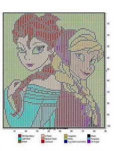 FROZEN WALL HANGING by @NDREA - ANNA AND ELSA