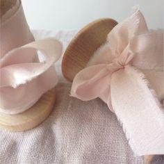 Spools of Blush Silk Ribbon ~ Silk Ribbon, Ribbon Bows, Ribbon In The Sky, How To Make Ribbon, Color Trends, Pale Pink, Christmas Time, Shabby Chic, Artsy