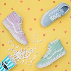 separation shoes e9561 3fbf1 Craving something sweet Check out our new Pastel Pack! Blue Vans, Vans Sk8