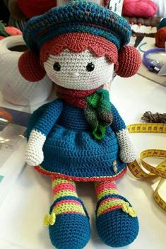 Crochet Doll Pattern Amigurumi PDF instant byThis Pin was discovered by TülThank you for stopping at Tamm Crochet Animal Patterns, Crochet Doll Pattern, Crochet Animals, Crochet Doll Clothes, Knitted Dolls, Crochet Dolls, Amigurumi Toys, Amigurumi Patterns, Doll Patterns