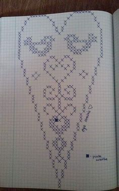 Designing Your Own Cross Stitch Embroidery Patterns - Embr Free Crochet Doily Patterns, Crotchet Patterns, Crochet Doilies, Crochet Stitches, Embroidery Hearts, Cross Stitch Embroidery, Cross Stitch Patterns, Embroidery Patterns, Cross Stitch Bookmarks