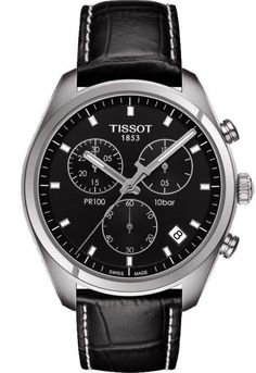 Tissot Watch PR100 #add-content #bezel-fixed #bracelet-strap-leather #brand-tissot #case-depth-10-71mm #case-material-steel #case-width-41mm #chronograph-yes #date-yes #delivery-timescale-call-us #dial-colour-black #gender-mens #luxury #movement-quartz-battery #official-stockist-for-tissot-watches #packaging-tissot-watch-packaging #style-dress #subcat-pr100-prc100 #supplier-model-no-t1014171605100 #warranty-tissot-official-3-year-guarantee #water-resistant-100m