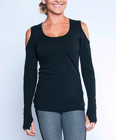 Look at this #zulilyfind! Infinity Black Abstract Long-Sleeve Top by TLF Apparel #zulilyfinds