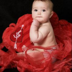 Valentine's day photoshoot - use red ribbon - so cheap and cute!