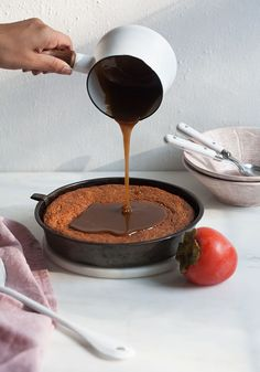 Sticky Salty Toffee Persimmon Pudding/ www.acozykitchen.com
