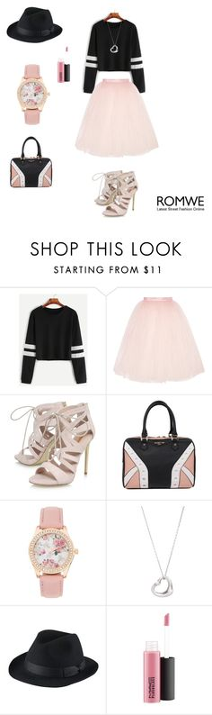 """""""Girly"""" by tracy-mizo ❤ liked on Polyvore featuring Ballet Beautiful, Carvela, Elodie, Tiffany & Co., Uniqlo and MAC Cosmetics"""