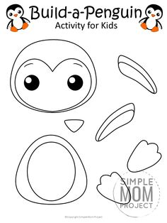 animal crafts Looking for a fun penguin craft to do with your toddlers? Click and print your free penguin template to make this simple and cute penguin art project! Winter Crafts For Toddlers, Animal Crafts For Kids, Paper Crafts For Kids, Toddler Crafts, Crafts To Do, Craft Kids, Kindergarten Crafts, Preschool Crafts, Penguin Craft