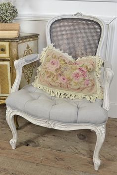 Antique French Cane Chair from Full Bloom Cottage