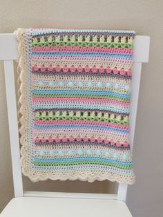♥️ #Crochet #Baby Blanket Pattern. This is a beautiful way to add color and…