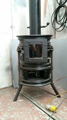 Fresh Clean Cast Iron Wood Stove