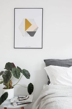 Marble Hexagon Poster