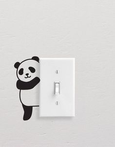 Add style to simple switch plates with our Panda Wall Decal Set! This set includes five different pandas, but all are equally adorable. [ Size ] Set Size (approx): x [ Whats Included ] 5 Pandas All artwork is original. Simple Wall Paintings, Creative Wall Painting, Wall Painting Decor, Simple Wall Art, Home Decor Wall Art, Diy Wall Decor, Room Decor, Wall Stickers Cartoon, Bedroom Decor