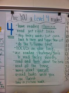 Are YOU a Level 4 Reader? Chart by @Ali Scott