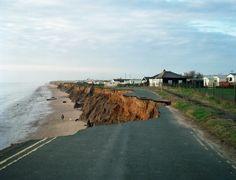 The Holderness coast in Yorkshire - coastal erosion 2m per year