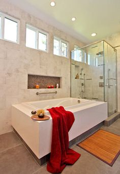 Shower Niche Design Ideas, Pictures, Remodel and Decor Tile Shower Niche, Window In Shower, Bathtub Shower, Bath Tubs, Niche Design, Vanity Design, Bathroom Renos, Bathroom Ideas, Bathrooms