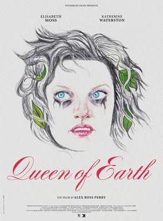 Affiche du film Queen of Earth, d'Alex Ross Perry, avec Elisabeth Moss, Katherine Waterston