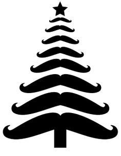 Mustache Christmas Tree {Free Printable}