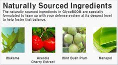 글라이코붐(Glyco-Boom) 주성분들입니다. Glyco는 참으로 놀랍습니다.