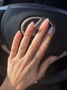 Lovely Nude Acrylic Almond Shaped Nails – – Care – Skin care , beauty ideas and skin care tips Clear Acrylic Nails, Acrylic Nail Shapes, Almond Acrylic Nails, Almond Shape Nails, Clear Nails, Oval Nails, Summer Acrylic Nails, Pink Nails, Oval Shaped Nails