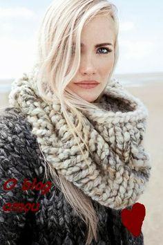 Rosa acessórios em tricô & crochê: Só maxi golas