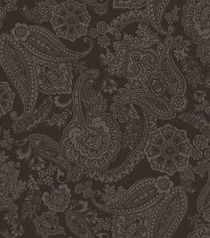 Fabric Central Shadow Play Paisley Black BtyFabric Central Shadow Play Paisley Black Bty,