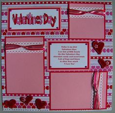 Captivating Baby's 1st Valentine's Day: Scrapbook Page