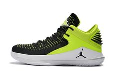 02875c103311ef 2018 Cheap Priced Air Jordan 32 Low XXXII PE Low Black Green Hot Sale Boys  Basketball