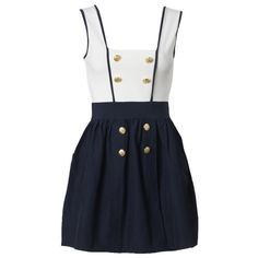 Dresses - Day - Nautical Pinafore Dress - AX Paris - Fashion Dresses |... (434.365 VND) ❤ liked on Polyvore featuring dresses, vestidos, платья, abiti, night out dresses, ax paris, pinafore dress, going out dresses and holiday party dresses