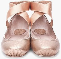 cross strap ballerinas by Chloe