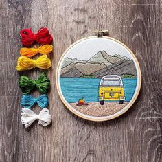 by @jenannhandmade . . . . . #embroidery #embroideryart #embroideryartist #fiberart #broderie #sewing #stitches #stitching #stitcher #embroidered #handembroidery #handcrafted #handmade #needlework #homedecor #contemporaryembroidery #walldecor #modernembroidery #hoopart #bordado #mountains #nature #camping #van