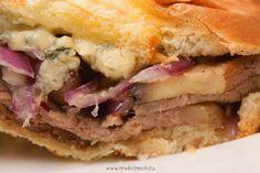 Grilled Steak, Portobello Mushroom And Blue Cheese Sandwich