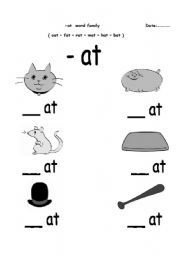 Word Family Story: -an | Worksheets
