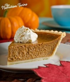 Coconut Pumpkin Pie | Only 200 Calories/ Serving | Rich & Creamy | For MORE RECIPES please SIGN UP for our FREE NEWSLETTER www.NutritionTwins.com |  #EBeggs #client