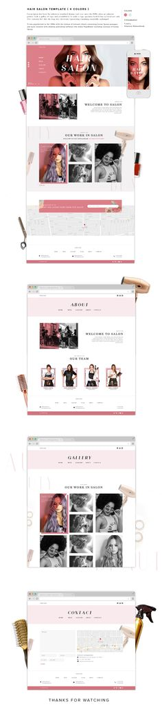 Hair Salon Template on Behance