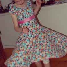 Dress: Elodie from farbenmix. Fabric: happy polkadots, Hamburger Liebe