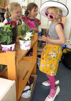 Themahoek tuincentrum voor kleuters, kleuteridee, juf Petra, role play garden center for preschool