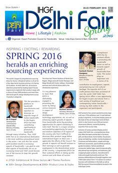 Show Bulletin 1 - IHGF Delhi Fair, Spring 2016 #ihgf #tradeshow