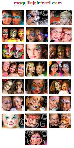 designs by Marcela Face Painting Images, Girl Face Painting, Face Painting Tips, Face Painting Designs, Painting For Kids, Paint Designs, Body Painting, Face Paintings, Cool Face Paint