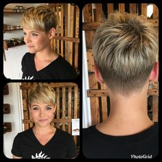 Nice hairstyle ideas for long Nette Frisur-Ideen für langes Gesicht Cute hairstyle ideas for long face – short hairstyles: best short hair cuts & styles 2019 # - Short Hairstyles For Thick Hair, Short Pixie Haircuts, Short Hair Cuts For Women, Pixie Hairstyles, Curly Hair Styles, Cool Hairstyles, Hairstyle Ideas, Hairdos, Pixie Haircut For Round Faces